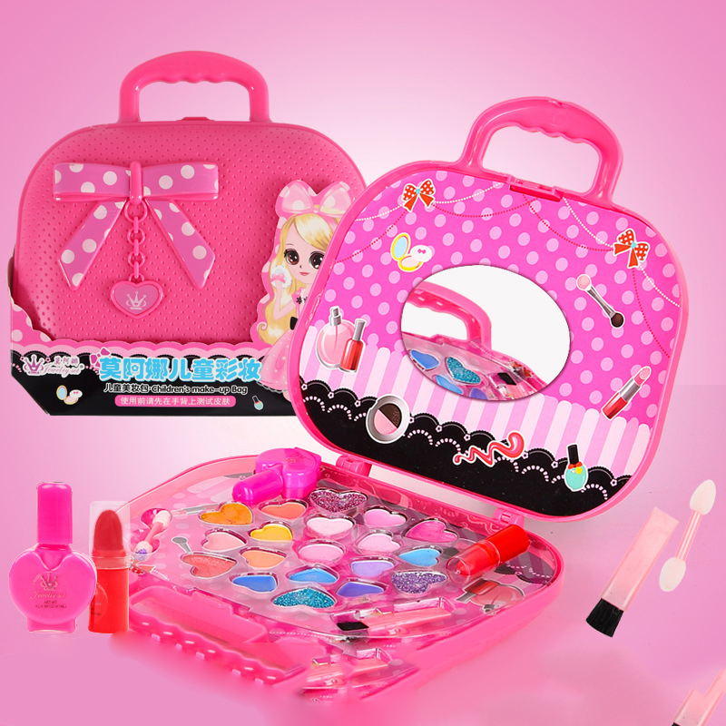 Kids Makeup Set Toys Suitcase Dressing Cosmetics Girls Toy Plastic Safety Beauty Pretend Play Children Girls Makeup Games Gift