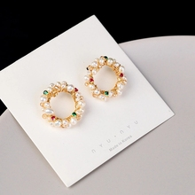 S925 Free shipping natural fresh water cultured pearl bracelet crystal bracelet neutral fashion gifts wholesale manufacturers