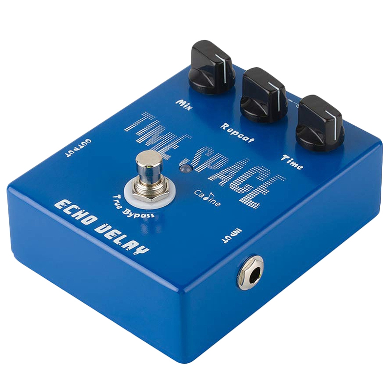 Caline CP-17 Echo Delay Guitar Effects Pedal Time Space Bass Distortion True Bypass Blue image