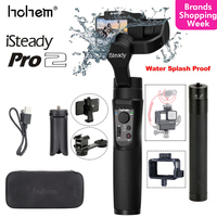 Hohem iSteady Pro 2/iSteady Mobile Plus Handheld Gimbal Stabilizer for Gopro Hero Osmo Action SJCAM Camera for iPhone Huawei