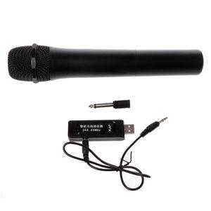 Image 2 - UHF USB 3.5mm 6.35mm sans fil Microphone mégaphone portable micro avec récepteur pour karaoké discours haut parleur