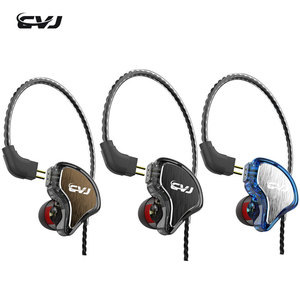 Image 1 - CVJ CS81BA+1DD In Ear Earbuds Hybrid Earphone HIFI Headset Eating chicken earphone call earpiece With 0.78mm 2Pin Replaced Cable