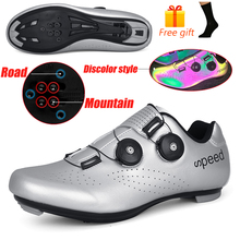 Luminous Cycling Shoes MTB Sneakers Man Road Mountain Bike Shoes Multifunction Cleats Bicycle Shoes Outdoor Cycle Sneakers Men