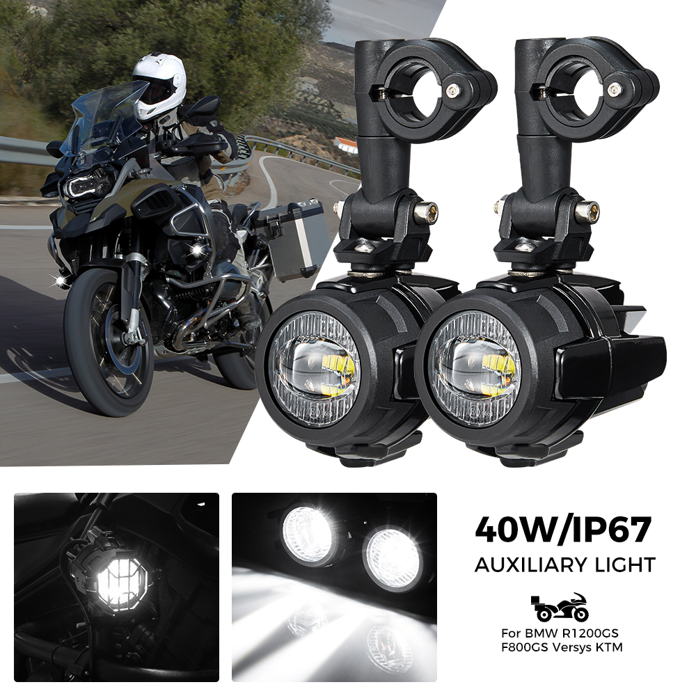 Image 5 - R1200GS 40W Motorcycle LED Fog Lights Auxiliary Assembliy For BMW R1200GS F850GS F750GS F 850GS 750GS 1250GS GS LC Adventure    -