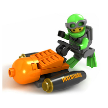 Toys Submarine Building-Blocks Police Motorcycle Model Action-Figure City Fire-Fighting-Truck