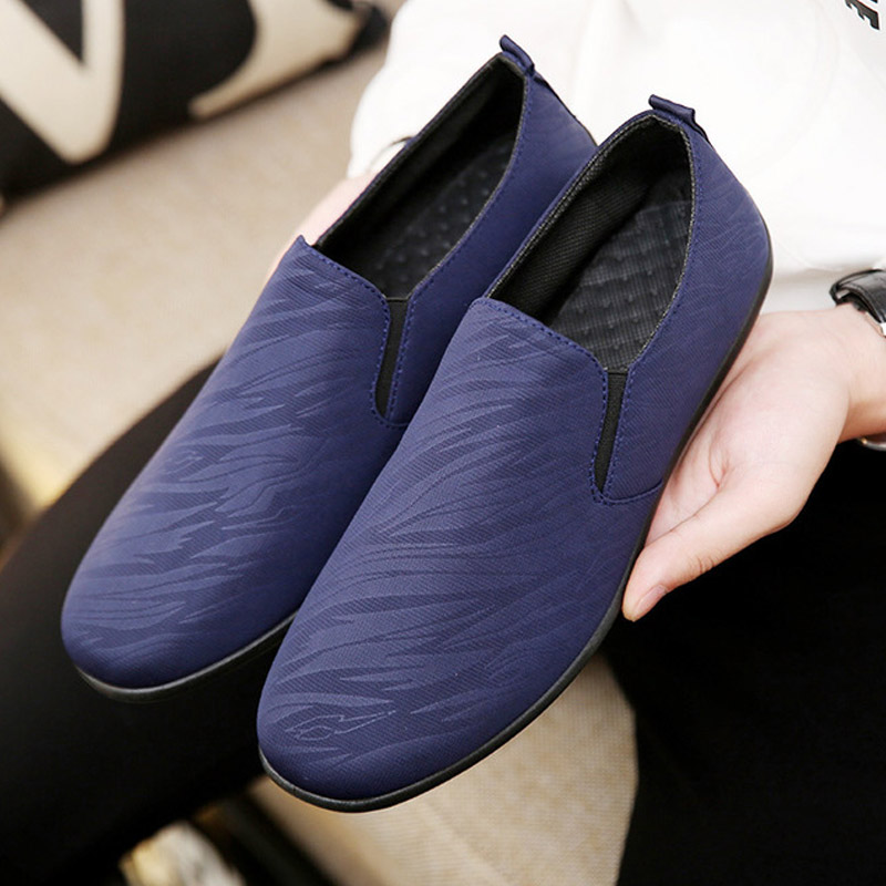 Breathable Shoes Men Comfortable Soft Men's Casual Shoes Business Driving Footwear Low-cut Slip On Men's Loafers Peas Shoes Male