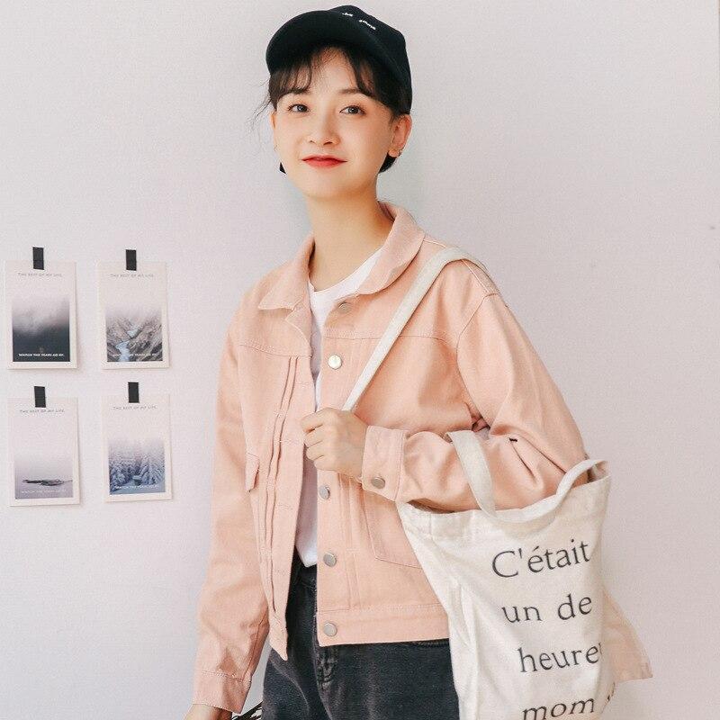 6106 séance Photo petite vidéo 2019 automne vêtements nouveau Style coréen vêtements de travail littérature et Art jean manteau veste femmes Sho