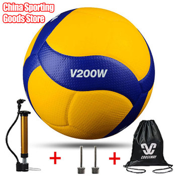 New Style High Quality Volleyball V200W, Competition Professional Game Volleyball 5 Indoor Volleyball , gift Pump + Needle + Bag classic volleyball mva310 special for training microfiber pu soft volleyball high quality free air pump air needle bag
