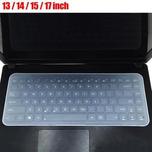 Silicone impermeável à prova de poeira notebook portátil teclado protetor de filme capa protetora de filme de silicone notebook