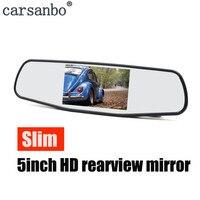 HD 5 Zoll Auto Rückspiegel Display LCD TFT Farbe Bildschirm Umkehrung Display 12V 24V Rückfahr Kamera Parkplatz monitor