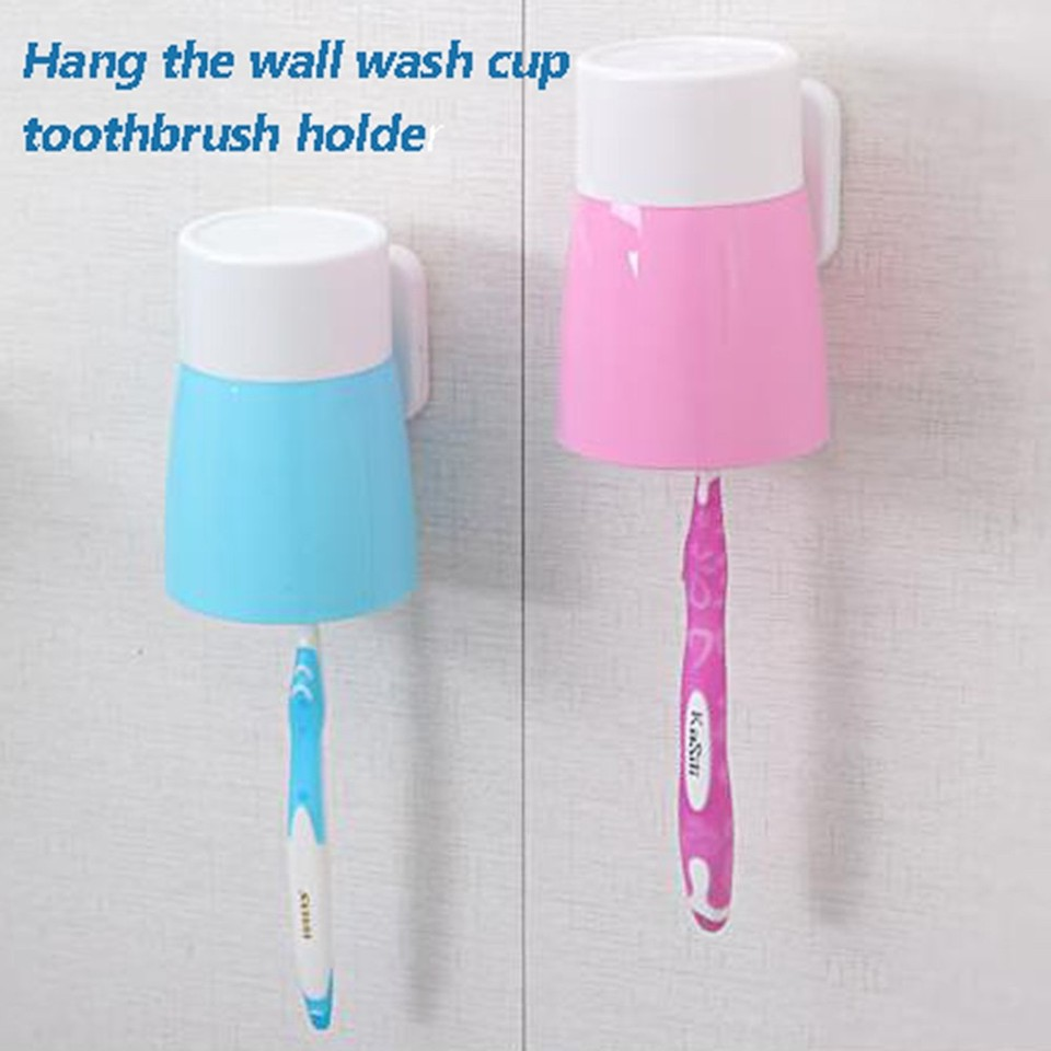 ABS Paste Toothbrush Holder Toothbrush Cup wall-mounted rack for Family New PS