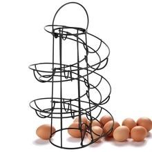 Egg Deluxe Spiraling Dispenser Rack Basket Storage Space Up To 24 Large Capacity Egg Case Holder Box Container Egg Racks Shelf
