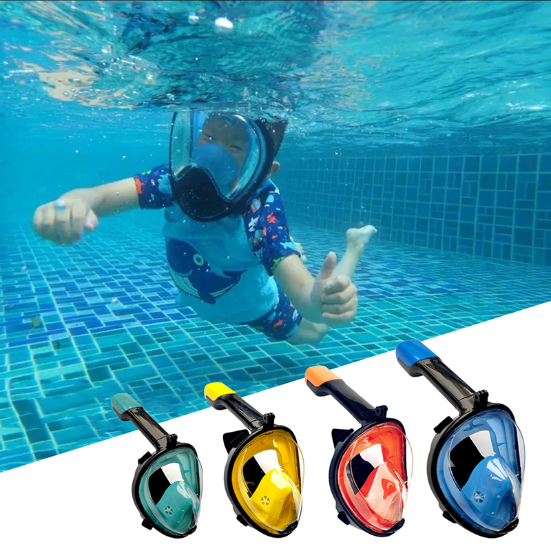 2019 Full Face Snorkeling Masks Panoramic View Anti-fog Anti-Leak Swimming Snorkel Scuba Underwater Diving Mask GoPro Compatible(China)