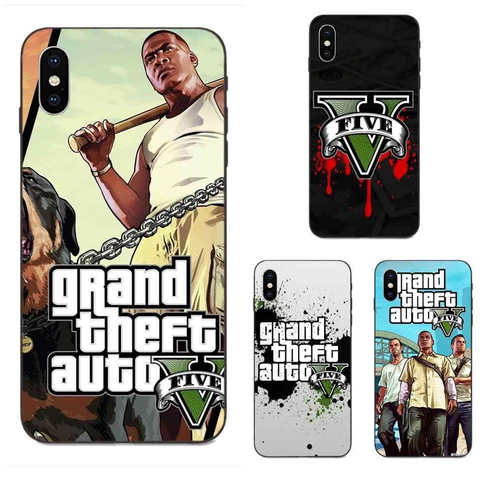 Gta Grand vol Auto 5 San Andreas pour Galaxy C5 C7 J1 J2 J3 J330 J5 J6 J7 J730 M20 M30 Ace Core Max Mini Plus Prime Pro