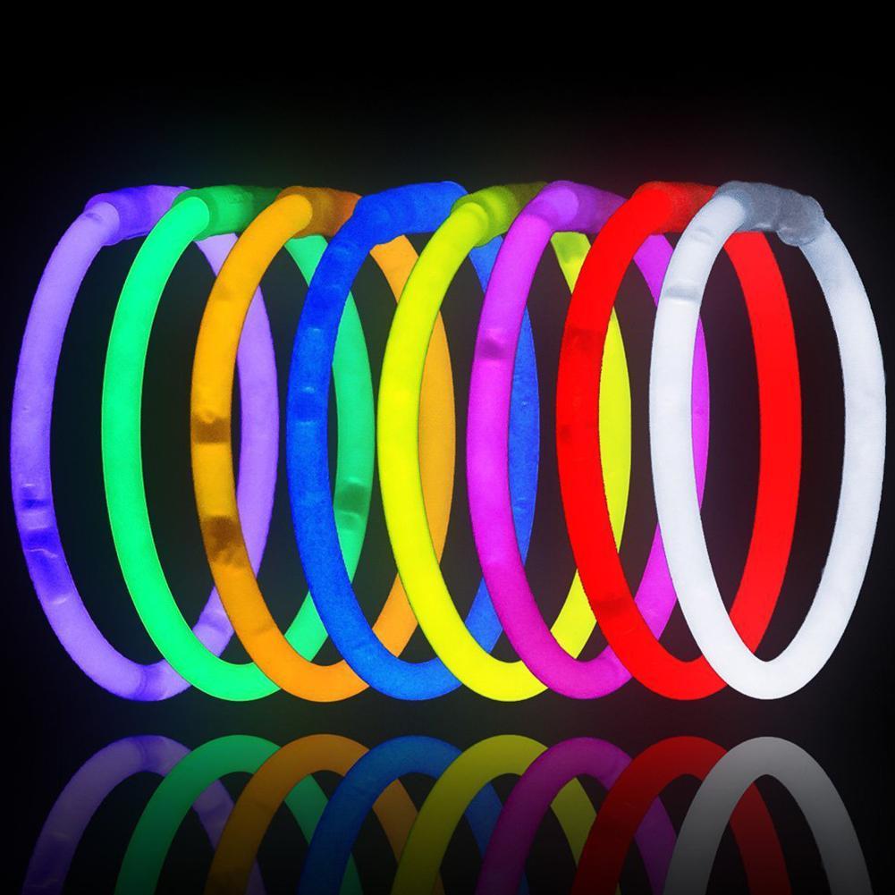 50Pcs Colorful Luminous Glow Sticks Glowsticks DIY Bracelet Necklace Party Props Bracelet Accessory Gift For Kid New