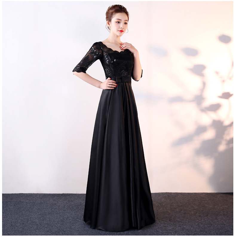 New Style Elegant Choral Service Long Skirts Costume Long Slim Fit Middle-aged Adult Chorus Clothing Women's Evening Gown