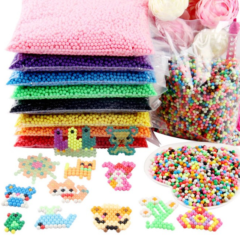 1000Pcs/Set 24 Colors 4.5mm Water Spray Magic Beads Educational 3D Puzzles Accessories For Children Toys Animation Model Toys