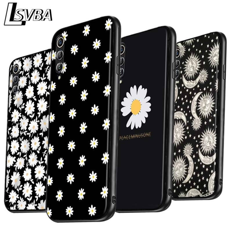 Daisy flower painting Anti-fall Phone Case for <font><b>Samsung</b></font> Galaxy A90 A80 A70S A60 A50S A40 A20E A20 <font><b>A10S</b></font> Soft Black <font><b>Cover</b></font> image