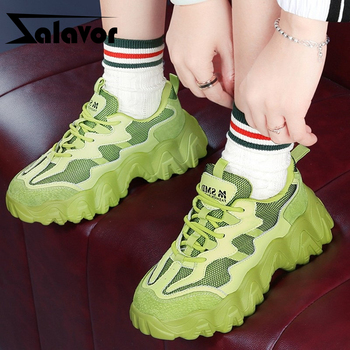 ZALAVOR Women Sneakers Real Leather Patchwork Fashion Women Vulcanized Shoes Thick Bottom Lacing Casual Footwear Size 35-40