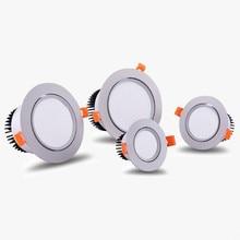Диммируемый светодиодный светильник потолочный Точечный светильник cob 7 Вт 9 Вт 12 Вт 15 Вт ac85-240V потолочный встраиваемый светильник s Внутреннее освещение