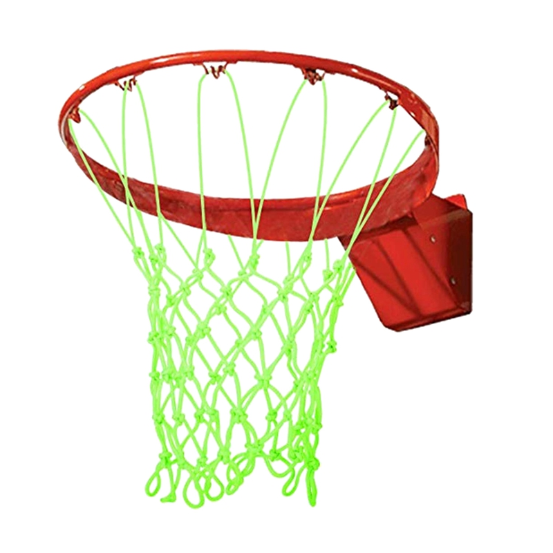 Nightlight Basketball Net Luminous Outdoor Glow In The Dark Portable Sun Powered Sports Nylon Glowing Night
