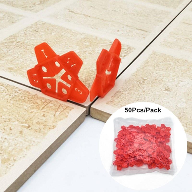 Sistema de nivelación de baldosas cerámicas con espacio de 5 tamaños 50 Uds., sistema de nivelación de baldosa cruzada, bomba de lechada Manual, herramientas de construcción