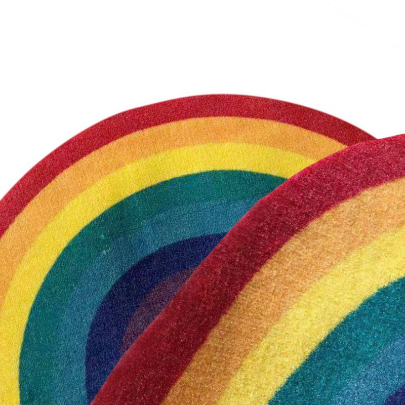 Household Rainbow Area Rug Colorful Floor Mat Doormat Decorative Carpet Pad Home Decor Carpet For Kitchen Living Room Bedroom