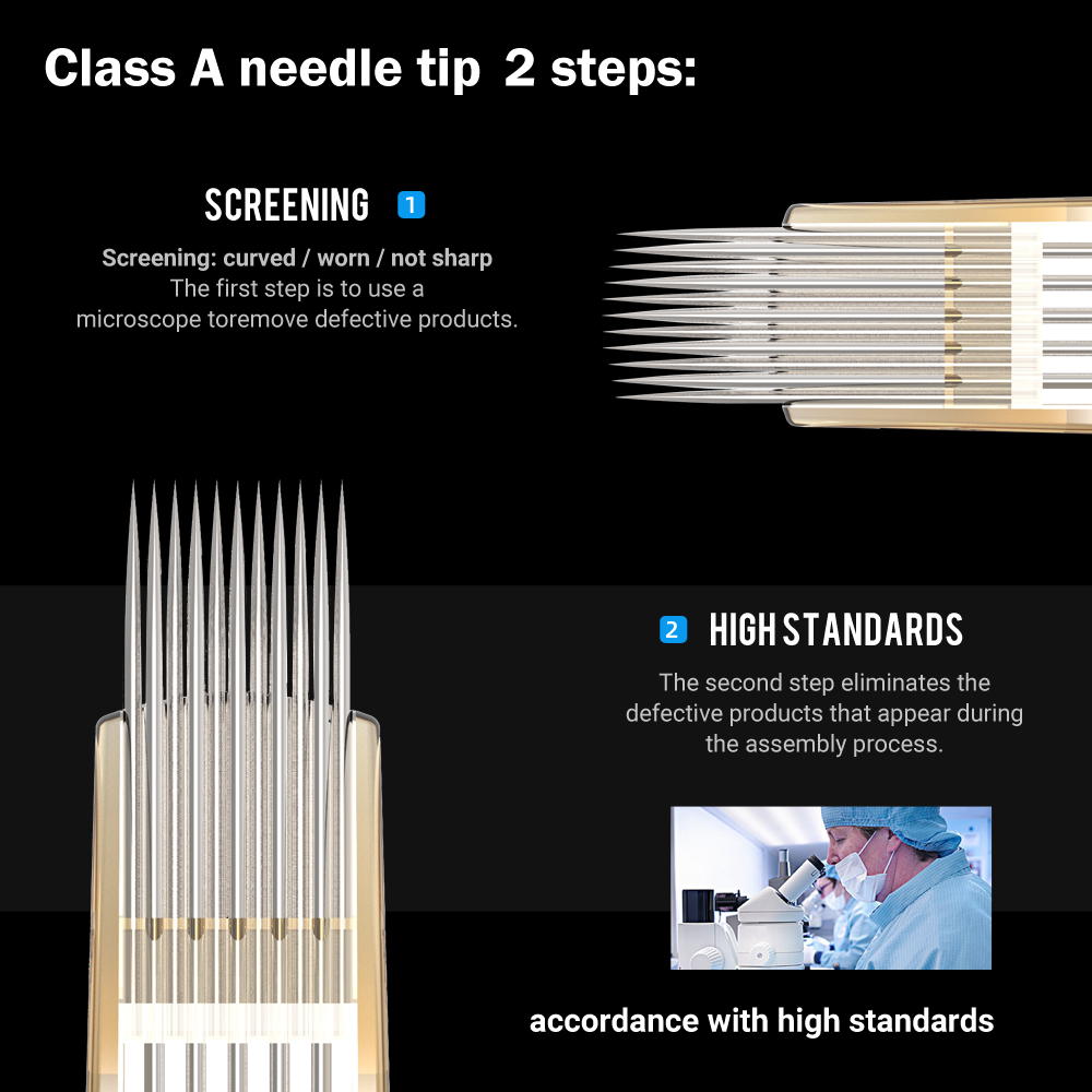 Ambition 20Pcs 0.35MM Disposable Permanent Makeup Tattoo Cartridge Needle Curved Magnum Tattoo Needles for Tattoo Gun Machines