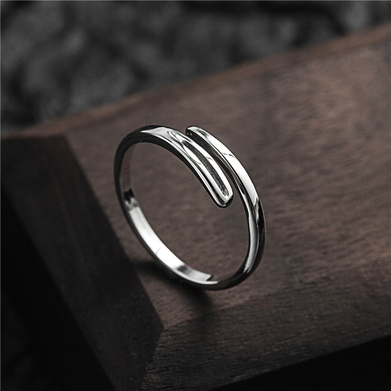 925 silver round ethnic ring adjustable size