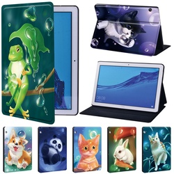 Кожаный чехол серии Animal для Huawei MediaPad T3 8,0/T3 10 9,6/T5 10 10,1 дюймов, чехол для планшета Mediapad M5 Lite 10,1 дюйма/M5 10,8 дюйма
