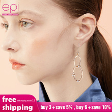 EPI New Limited Acrylic Hiphop Earings Oorbellen Orecchini New Large Bamboo Joint Hoop Earrings Hip-hop Tone Big Circle