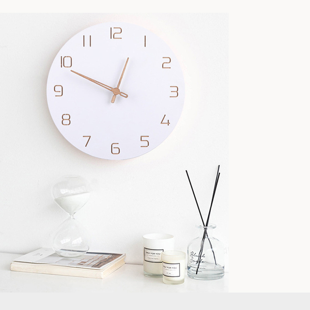 Nordic Wooden Wall Clock