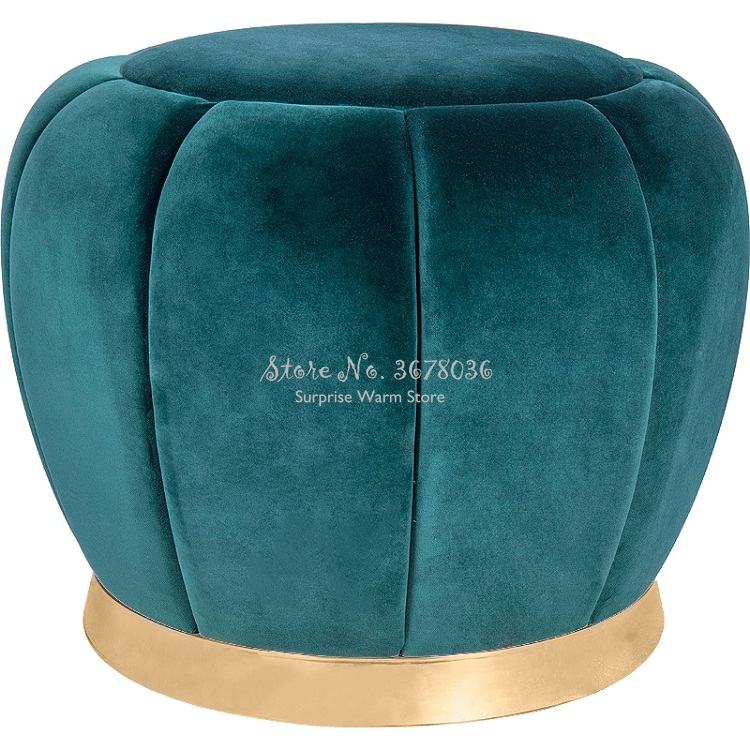 Sofa Ottoman Fashion Makeup Round Stool  Creativity Change Shoe Stool  Home Small Stool Fashion Creative Velet Modern 38x40cm