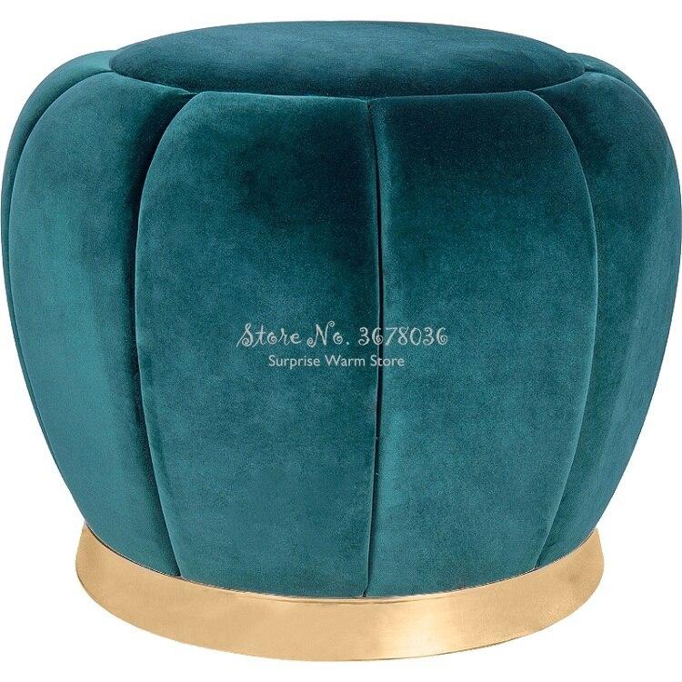 Sofa Ottoman Fashion Makeup Round Stool  Creativity Change Shoe Stool  Home Small Stool Fashion Creative Velet Modern 38x40cm
