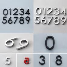 Современные самоклеющиеся дверные номера знак 0-9 цифр квартира отель офис дверь адрес улица номер наклейки