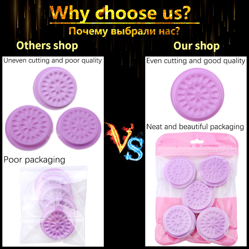 Wholesale Glue Gasket Eyelash glue holder Adhesive Pallet Eyelash Extension glue pads stand on eyelash plastic makeup tools 3
