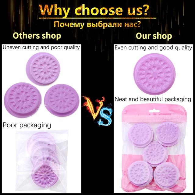 Wholesale Glue Gasket Eyelash glue holder Adhesive Pallet Eyelash Extension glue pads stand on eyelash plastic makeup tools 2
