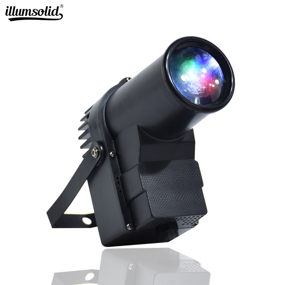 10W RGBW LED Stage Lighting Pinspot Beam Spotlight Professional DJ DISCO Party KTV Backlight Stage Light 360-degree Lighting