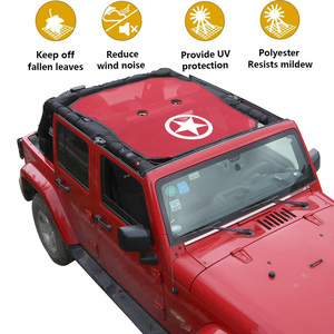 Image 5 - SHINEKA Top Sunshade Mesh Car Cover Roof UV Proof Protection Net for Jeep Wrangler JK 2 Door and 4 Door Car Accessories Styling