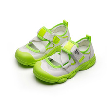 2021 Summer Kids Boy Girl Shoes Hook&Loop Mixed Colors Shallow Fashion Leisure Flat Heels Air mesh Non-slip Breathable Sneakers