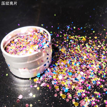 Rainbow Colorful Nail Art GLITTER Round And Hexagon Mix Nails Art Glitter Powder Sequins Nail Accesoires Decorations GLITTER 10ml jar mix color nail art glitter powder holo gold hexagon aurora nail flakes sequins for a manicure nail art decorations new