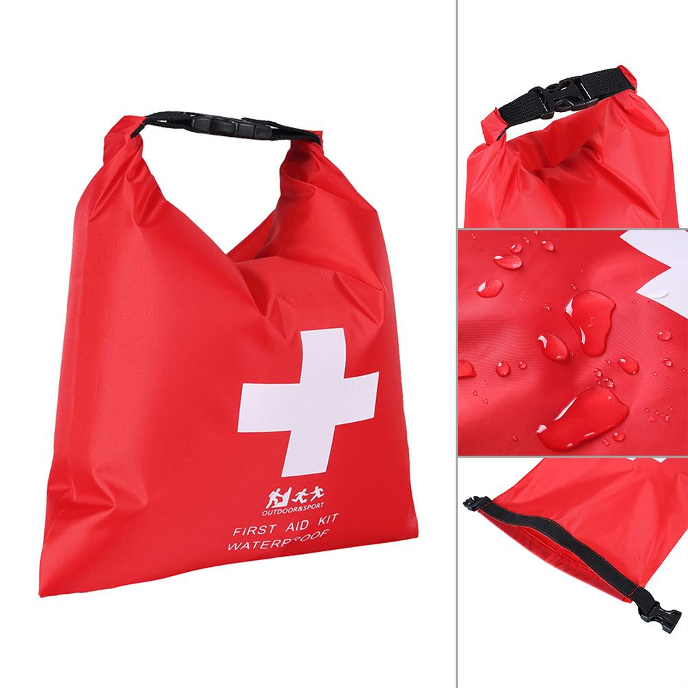 1.2L Outdoor Waterproof Trekking Rafting First Aid Bag Emergency Kit For Travel Camping Red Kayaking Canoeing First Aid Dry Bag