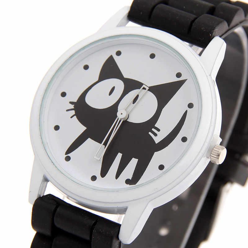 NOVA Moda desenhos animados de ซิลิโคนซิลิโคน Fresco สุภาพสตรีนาฬิกาที่ไม่ซ้ำกันของขวัญสร้อยข้อมือนาฬิกา
