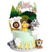 Cake Jungle Reveal-Decoration Shower-Gender Animal Tiger Birthday-Party Lion Elephants