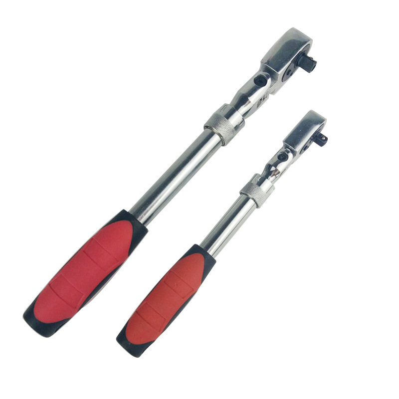 High Quality 72 Teeth Telescopic Ratchet Spanner Automatic Quick Release Fast 1/4 1/2 3/8 Can Adjust 90 Degrees Scaffold Wrench
