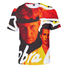 TV Series Cobra Kai 3D Printed T-shirt Men/women Fashion Casual Harajuku Round Neck Sweatshirt Short Sleeve Streetwear Tops