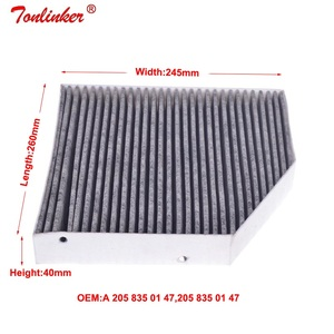 Image 4 - Cabin Filter 2 Pcs For Mercedes Benz C CLASS W205 A205 C205 S205 2013 2019 Model Built in External Air Conditioning Filter Set