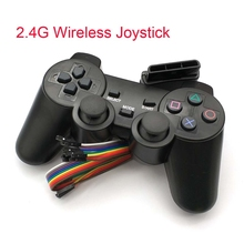 2.4G אלחוטי משחק gamepad ג ויסטיק עבור PS2 בקר Sony פלייסטיישן 2 קונסולת dualshock משחקי joypad עבור PS 2 לשחק תחנה
