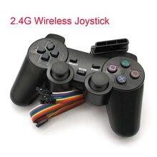Joystick para jogos 2.4g sem fio, para ps2, controle, playstation 2, dualshock, joypad para ps 2 play estação de estação