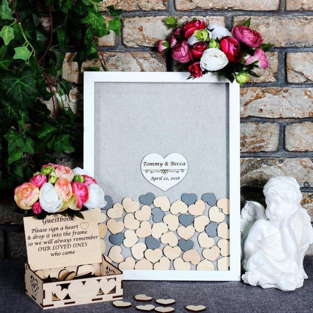 3d Wedding guestbook Alternative Drop box Wedding guest book Custom Drop Top Guest Book Wedding Wishes Box Guestbook Frame Wood Hearts PINK